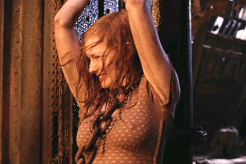 Kirsten in yet another wet blouse from Spiderman 2